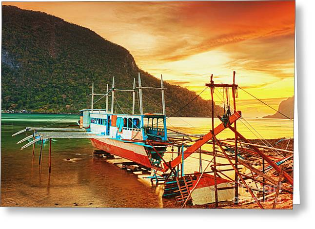 Boat Greeting Card by MotHaiBaPhoto Prints