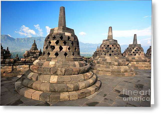 Borobudur Greeting Card by MotHaiBaPhoto Prints