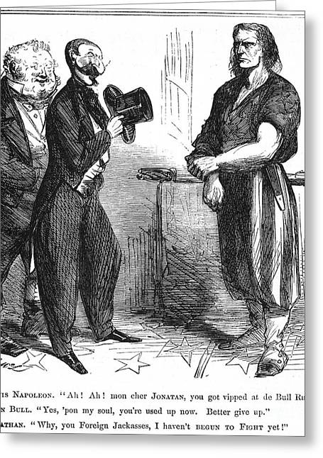 Civil War Cartoon, 1861 Greeting Card