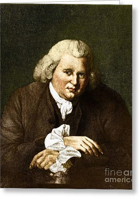 Erasmus Darwin, English Polymath Greeting Card by Science Source