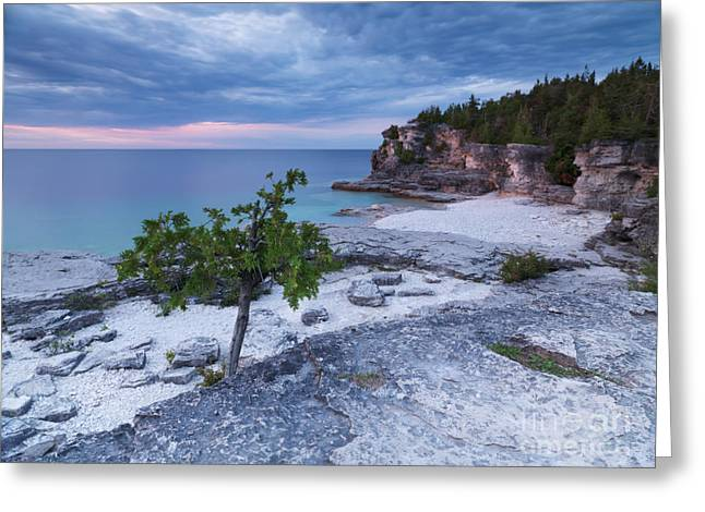 Georgian Bay Cliffs At Sunset Greeting Card by Oleksiy Maksymenko