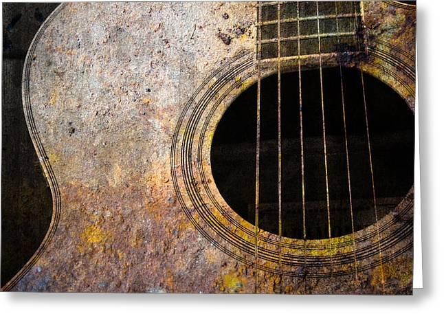 Old Guitar Greeting Card