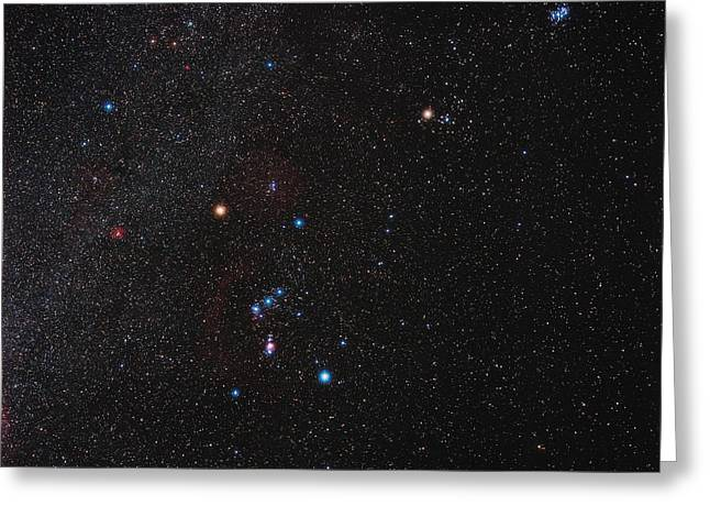 Orion Constellation Greeting Card by Eckhard Slawik