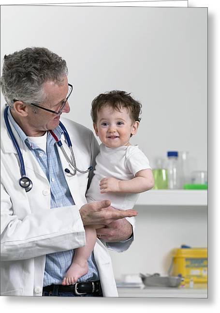 Paediatric Examination Greeting Card by Tek Image