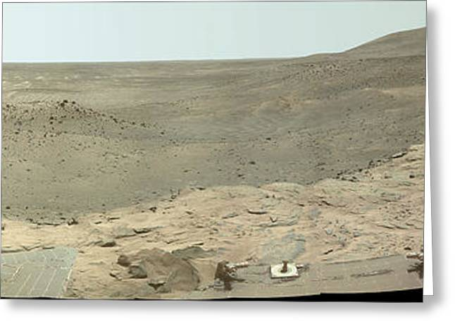 Panoramic View Of Mars Greeting Card