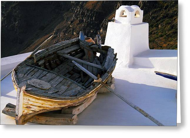 Greeting Card featuring the photograph Santorini Greece by Colette V Hera  Guggenheim