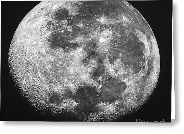 The Moon Greeting Card by Stocktrek Images
