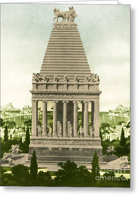7 Wonders Of The World, Mausoleum Greeting Card by Photo Researchers