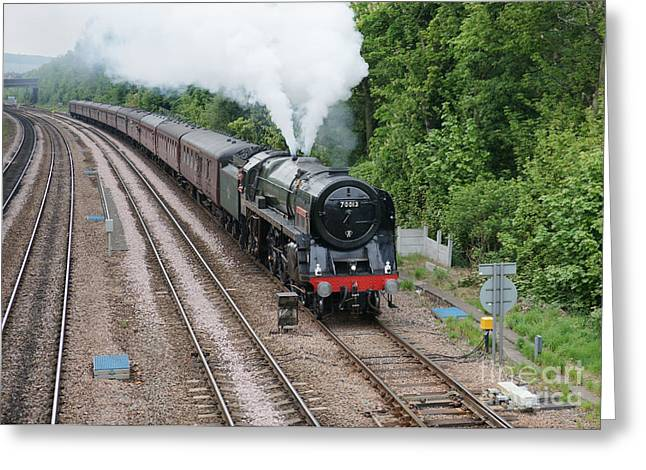 70013 Oliver Cromwell Greeting Card