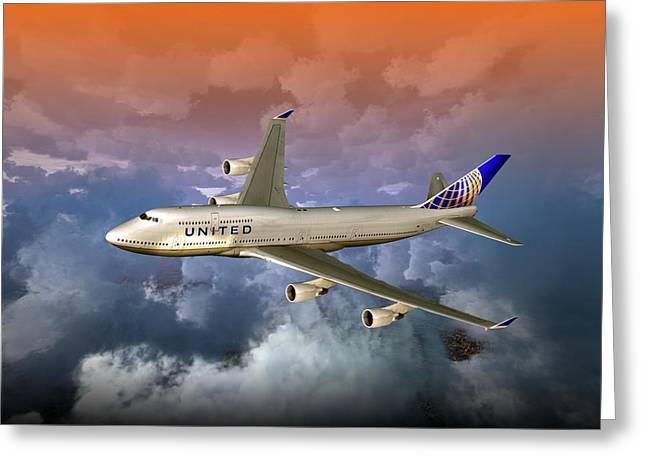 747-400 Uao 01 Greeting Card
