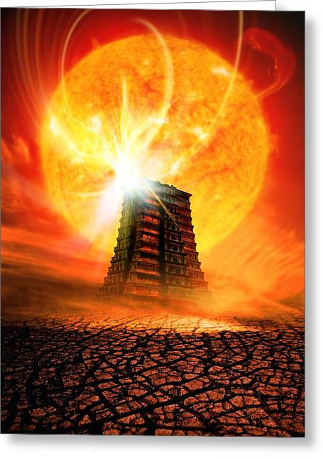 End Of The World In 2012 Conceptual Image Greeting Card