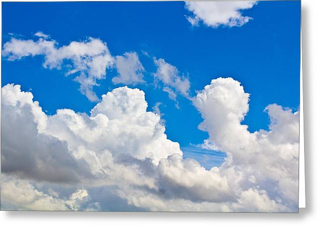 English Summer Sky Greeting Card by David Pyatt