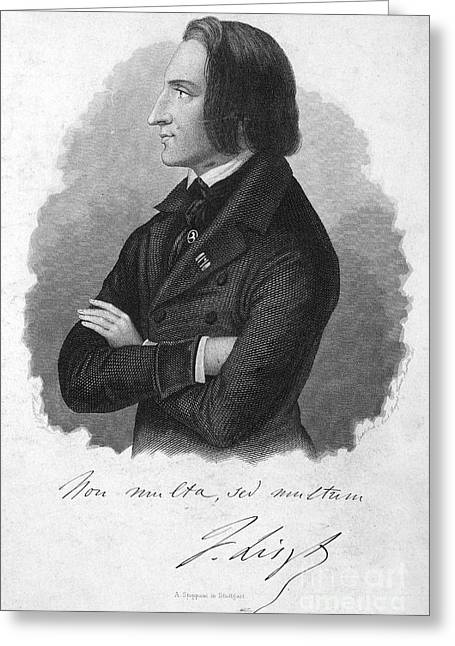 Franz Liszt (1811-1886) Greeting Card by Granger