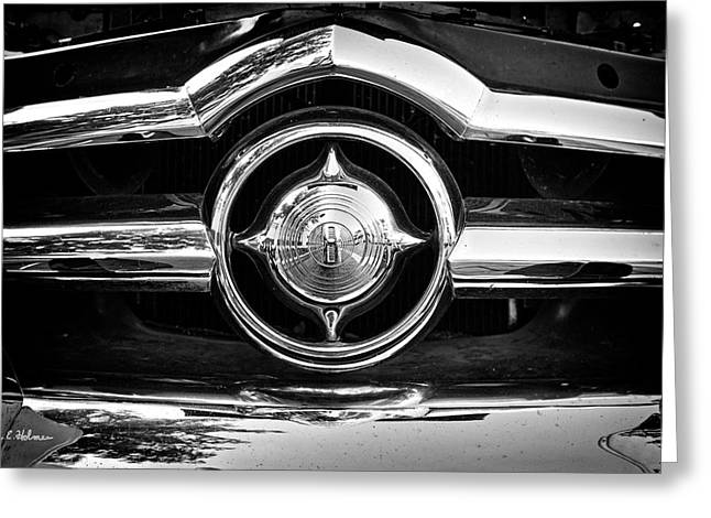 8 In Chrome - Bw Greeting Card