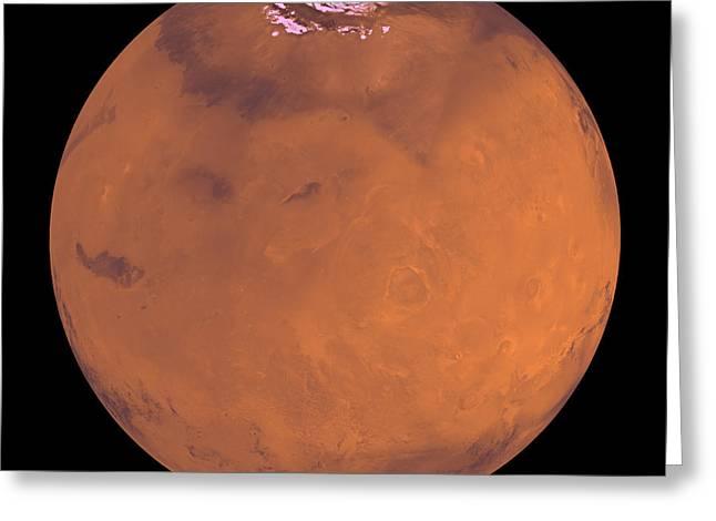 Mars Greeting Card by Stocktrek Images