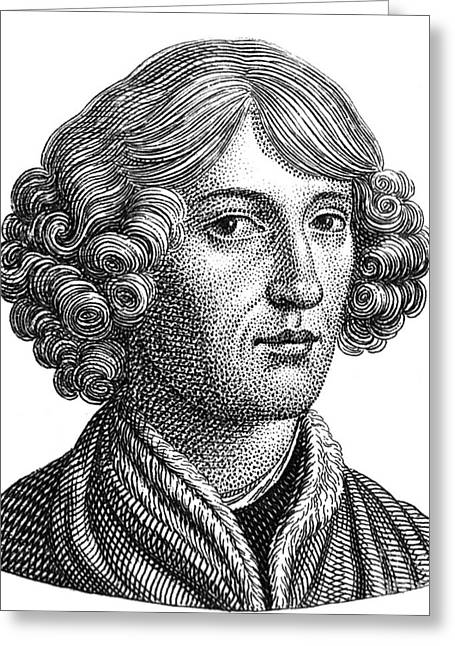 Nicolaus Copernicus, Polish Astronomer Greeting Card by Science Source