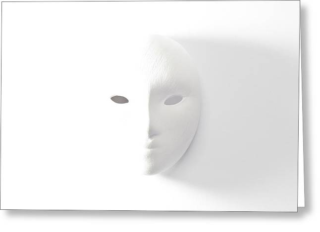 Plaster Mask In Studio Greeting Card by Kantapong Phatichowwat