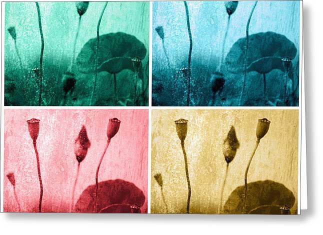 Poppy Art Image Greeting Card by Falko Follert