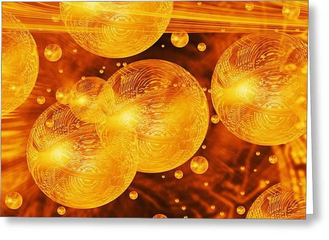 Quantum Computing Greeting Card by Mehau Kulyk