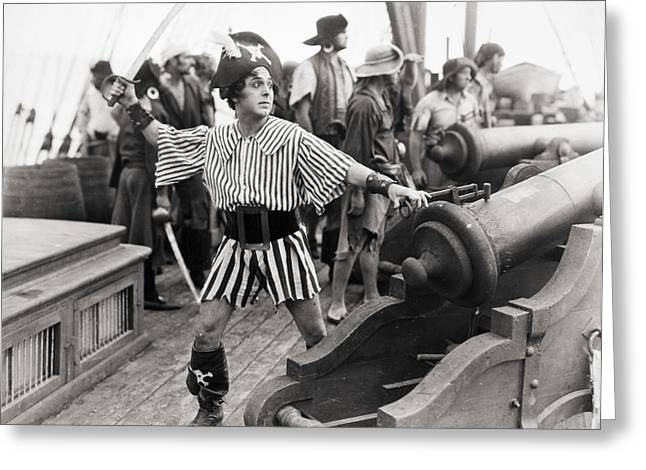 Silent Film Still: Pirates Greeting Card by Granger