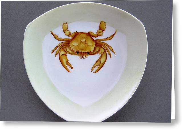 866 2 Part Of Crab Set 1 Greeting Card by Wilma Manhardt