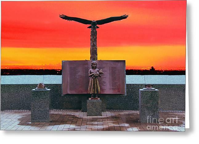 9-11  West Orange Nj Greeting Card by Nick Zelinsky