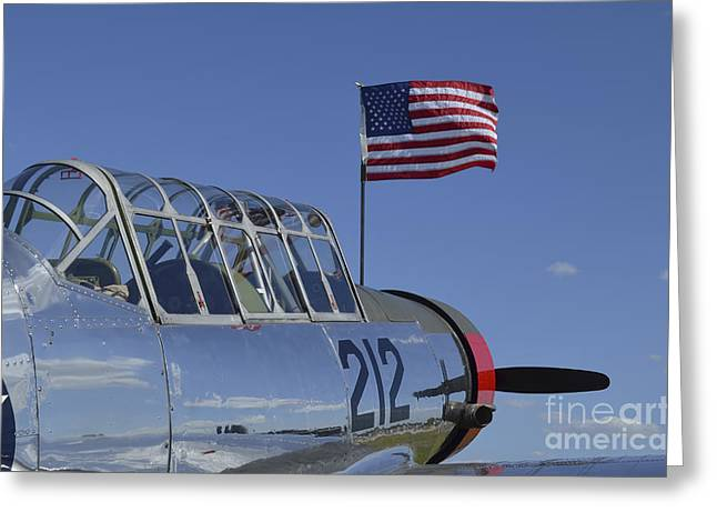 A Bt-13 Valiant Trainer Aircraft Greeting Card by Stocktrek Images