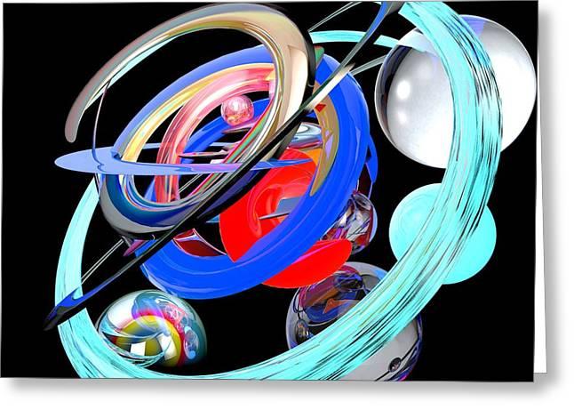 Abstract Shape Greeting Card by Bogdan Floridana Oana
