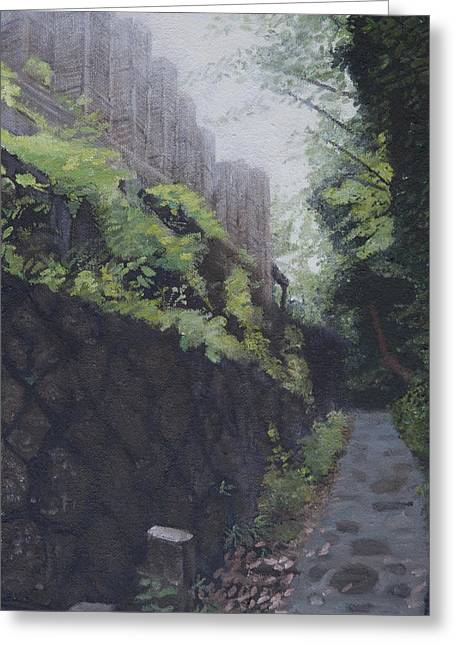 Afternoon Light Greeting Card by Masami Iida