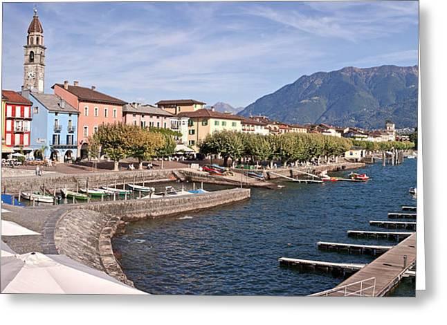 Ascona - Ticino Greeting Card by Joana Kruse