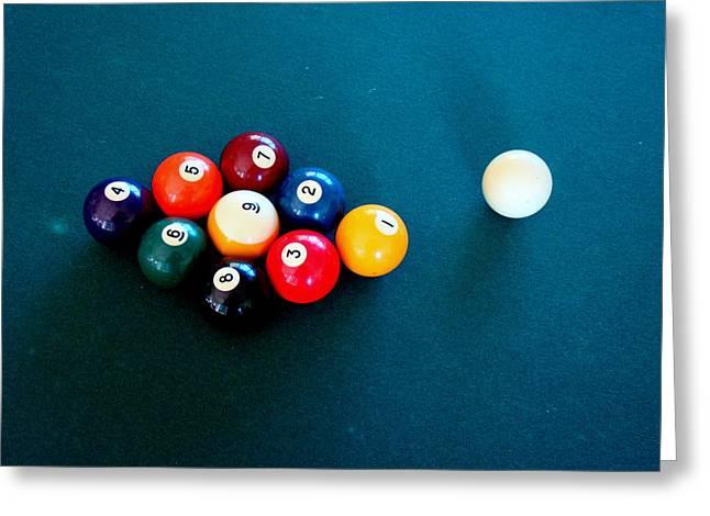 9 Ball Greeting Card by Nick Kloepping