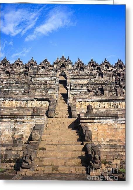 Borobudur Greeting Card by MotHaiBaPhoto Prints