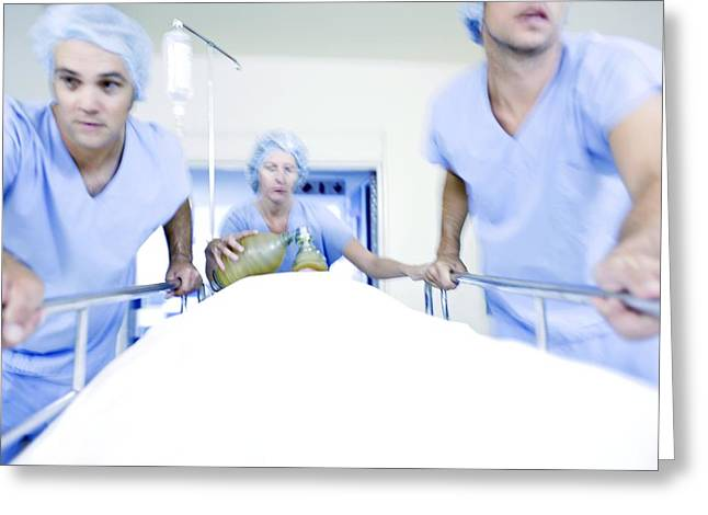 Emergency Hospital Treatment Greeting Card by