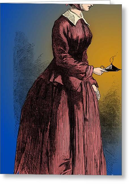 Florence Nightingale, English Nurse Greeting Card