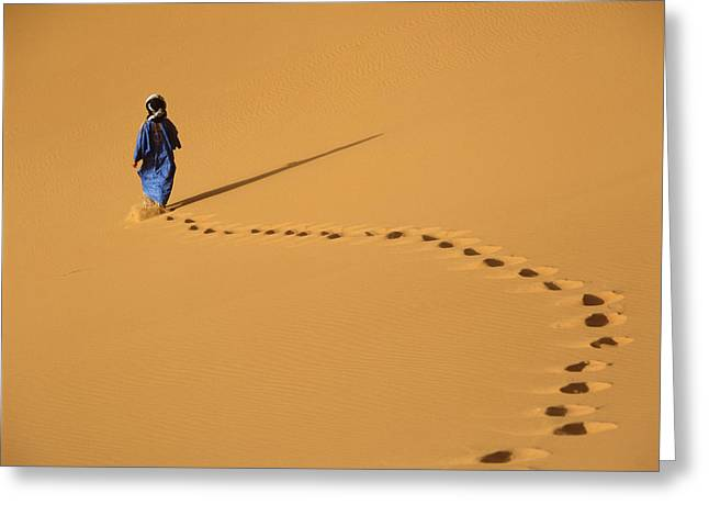 Merzouga, Morocco Greeting Card by Axiom Photographic
