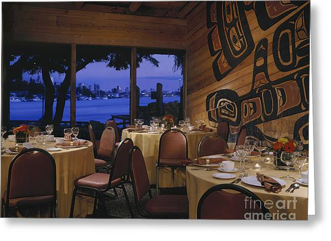 Restaurant Greeting Card by Robert Pisano