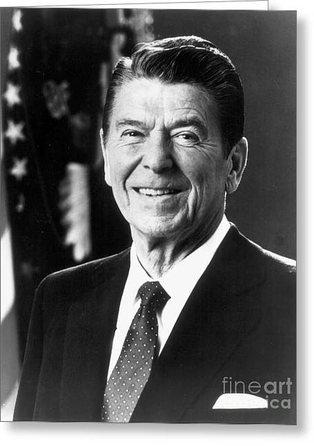 Ronald Reagan (1911-2004) Greeting Card by Granger