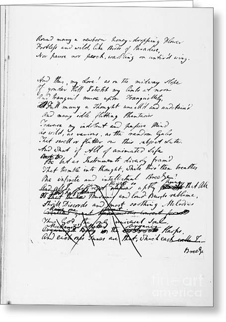 Samuel Taylor Coleridge Greeting Card by Granger
