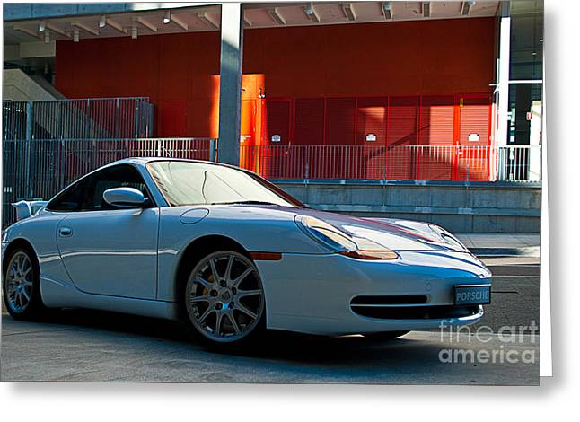 911 Porsche 996 2 Greeting Card by Stuart Row