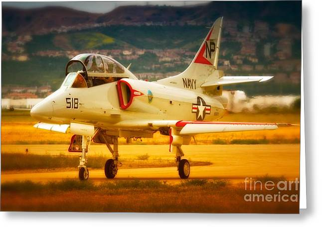 A-4 Skyhawk Up For A Hunt Greeting Card by Gus McCrea