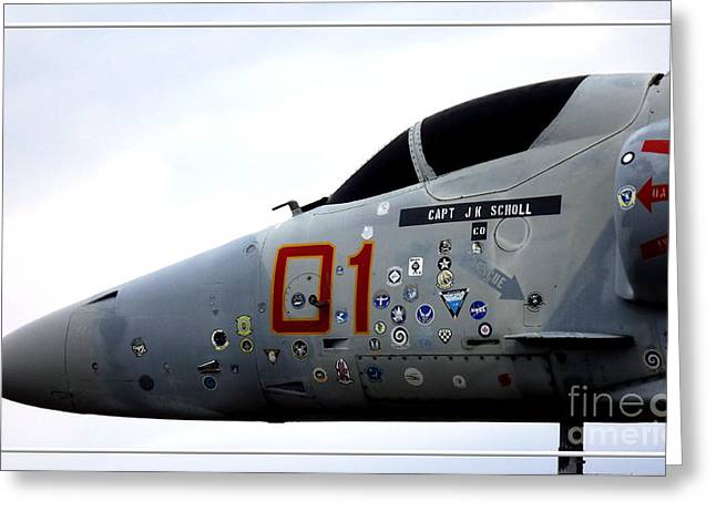 A-4e Skyhawk Plane Closeup Greeting Card by Rose Santuci-Sofranko