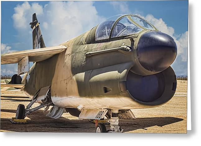 A-7 Corsair II Greeting Card by Steve Benefiel