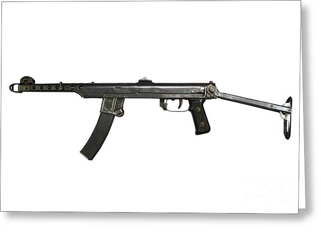 A 7.62mm Type 54 Machine Gun, A Variant Greeting Card by Andrew Chittock