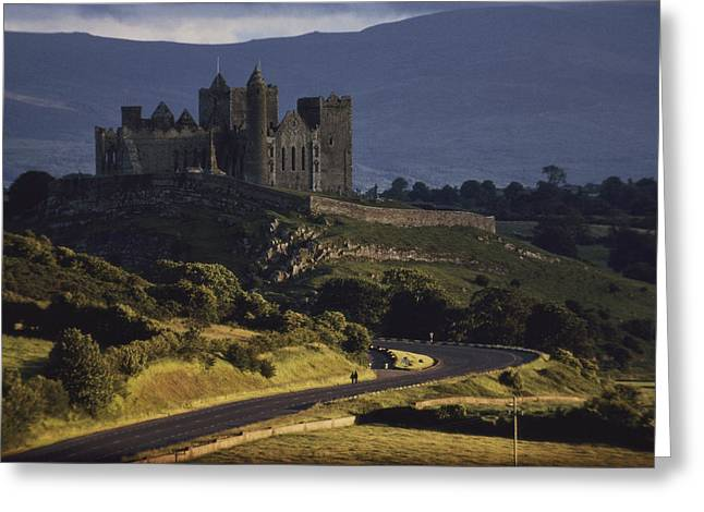A Ancient Romanesque Castle Sits Atop Greeting Card by Cotton Coulson