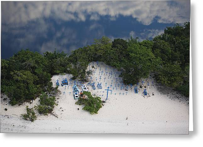 A Beach Cemetery Beside The Rio Negro Greeting Card
