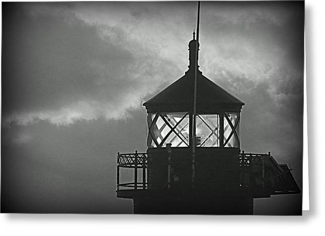 A Beacon In The Night Greeting Card by Kay Novy