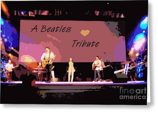 A Beatles Tribute Greeting Card by Renee Trenholm