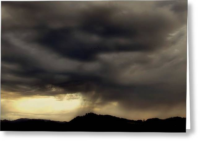 A Beautiful Storm Greeting Card by Katie Wing Vigil