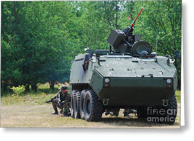 A Belgian Army Piranha IIic With The Fn Greeting Card