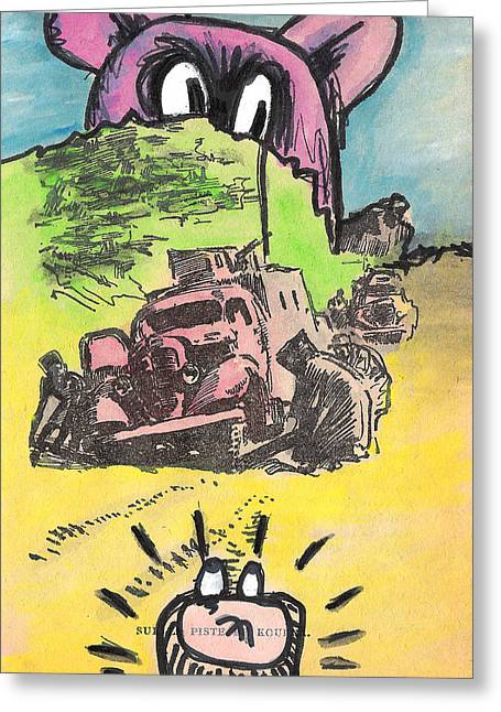 A Big Bear Greeting Card by Jera Sky
